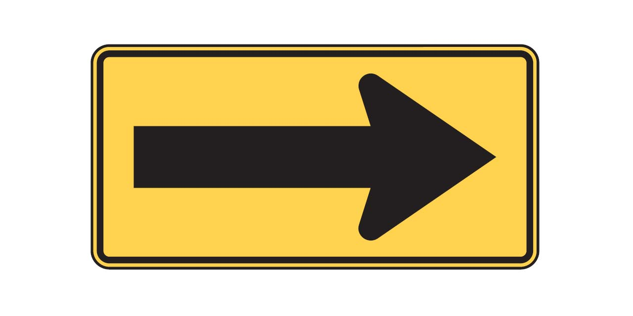 Road Signs Test Large Arrow