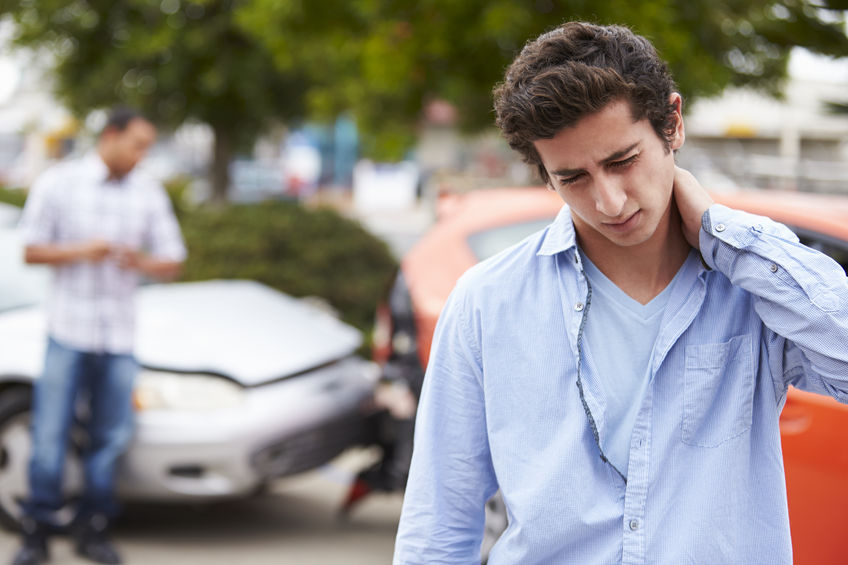 Teenager with neck injury – Copyright: Cathy Yeulet