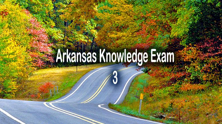 Free DMV Test - Arkansas Knowledge Exam 3