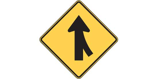 Road Sign - Yellow Warning Sign