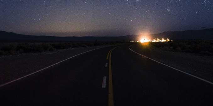 driving at night - photo by Tomas Anunziata